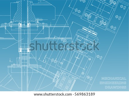 Technical drawing stock images royalty free images vectors mechanical engineering drawings technical design blueprints blue and white malvernweather Images