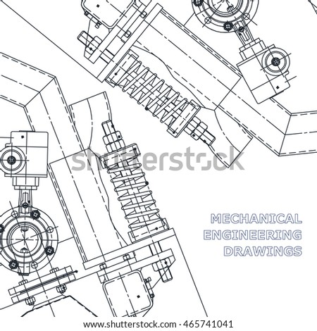 Mechanical Engineering Drawing Technical Illustrations Drawing Stock ...
