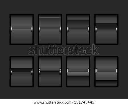 Mechanical Panel Change Process Stages. Vector Illustration - stock vector