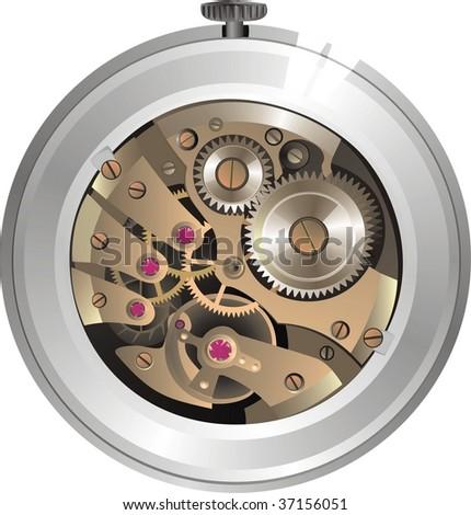 mechanical watch - stock vector