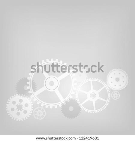 Mechanism on Grey Gradient Background. Vector Illustration. EPS 10. - stock vector