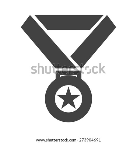 Medal, award, prize, win icon vector image. Can also be used for sports, fitness, recreation. Suitable for web apps, mobile apps and print media. - stock vector