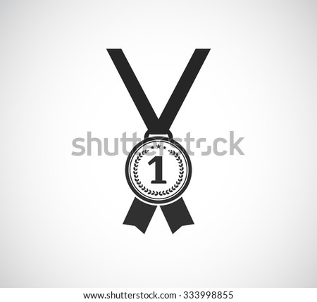 medal first place icon - stock vector