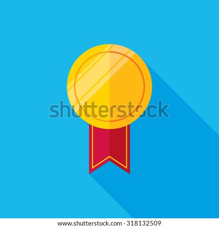 Medal Flat Long Shadow Icon