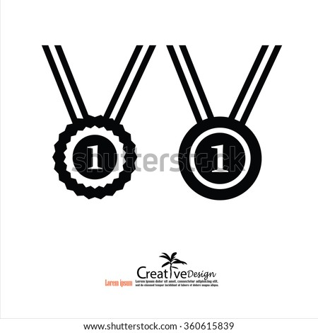 medal icon.medal.vector illustration. - stock vector