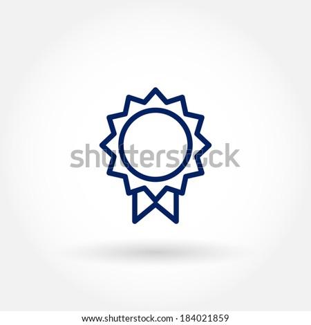 Medal icon. Modern line icon design.  - stock vector