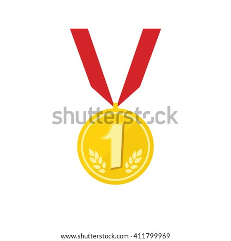 Medal icon vector