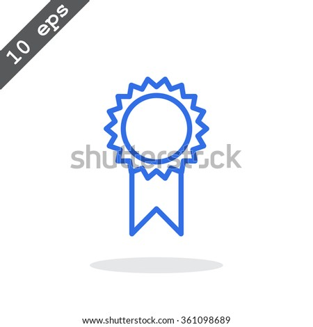 medal icons - stock vector