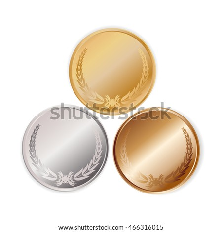 Medal isolated on white.