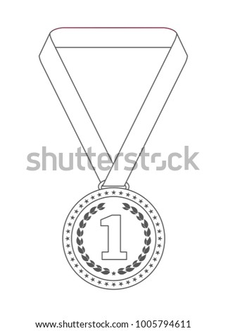 medal outline icon