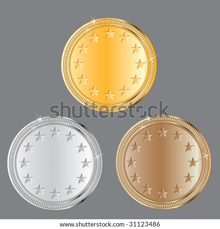 medal set #2 - stock vector
