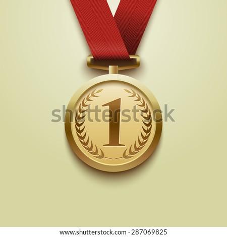 Medal winner. Vector - stock vector