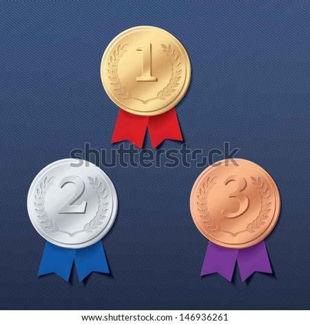 Medals - stock vector