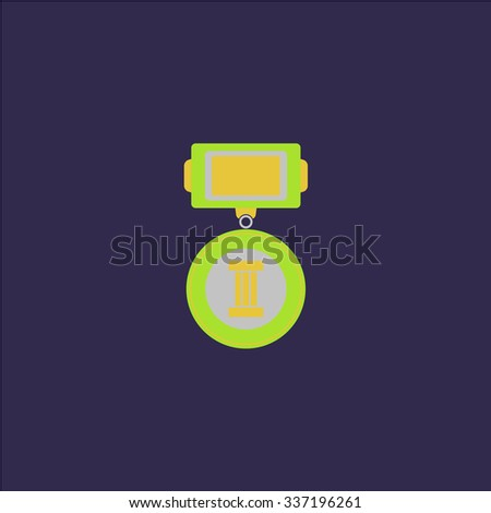 Medals 3 places. Icon Vector. Icon Picture. Icon Graphic. Icon Art. Icon JPG. Icon JPEG. Icon EPS. Icon AI. Icon FLAT. Icon SIMPLE - stock vector