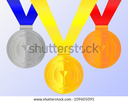 Medals Set 2 - stock vector