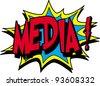 media - stock vector