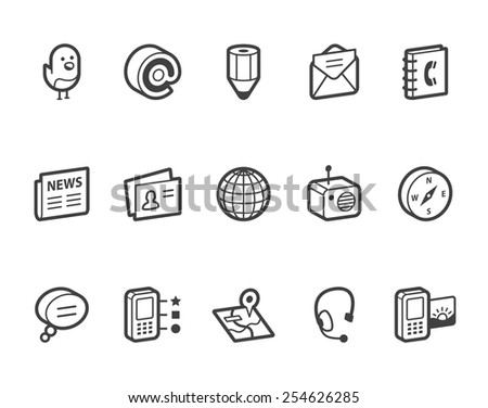 Media and communication vector icons.  File format is EPS8. - stock vector