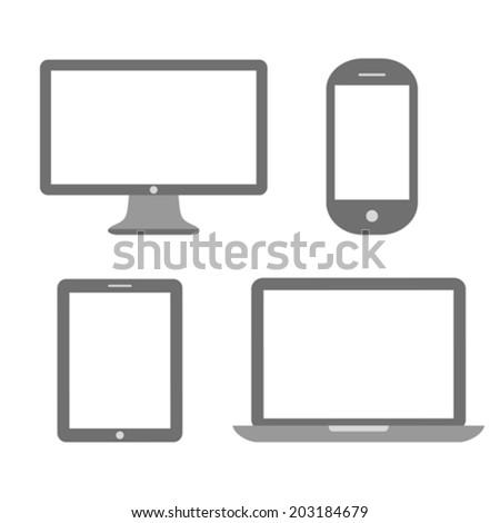Media device icon - stock vector