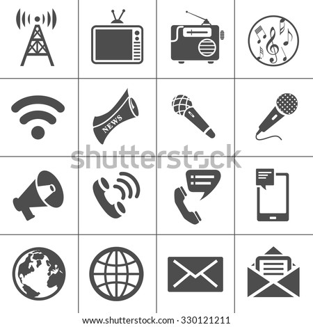 Media Icons - stock vector