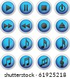 Media Icons - Musical Buttons - stock vector