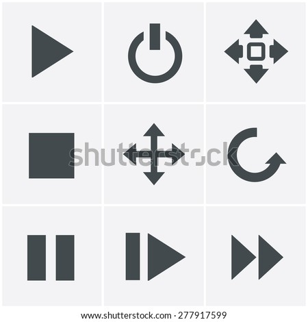 media  Icons Set, Vector Design - stock vector