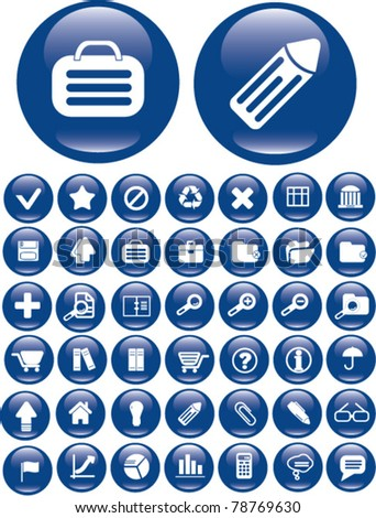 media icons, signs, vector - stock vector