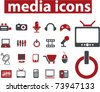 media icons, vector - stock vector