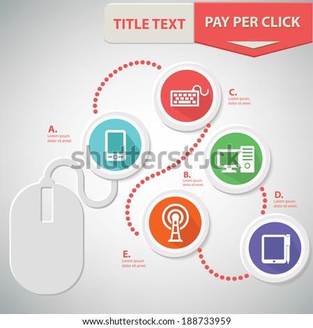 Media info graphics design,Colorful version,vector - stock vector