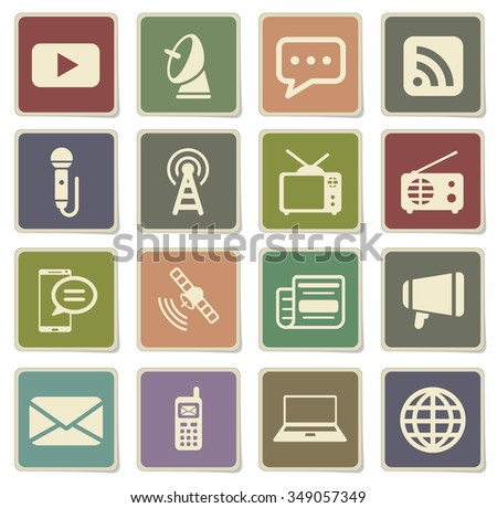 Media label icons for web