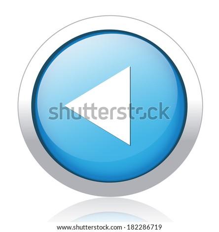Media player button - stock vector