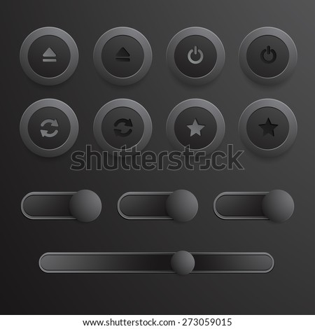 Media Player Button : Vector Illustration