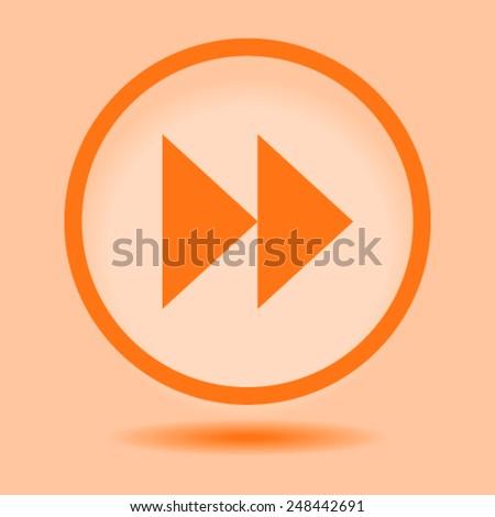 media player control button - stock vector