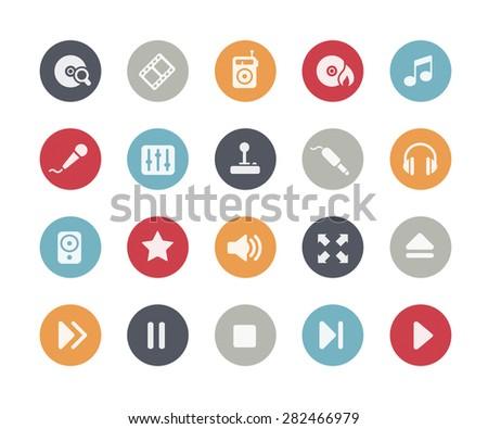 Media Player Icons // Classics Series - stock vector
