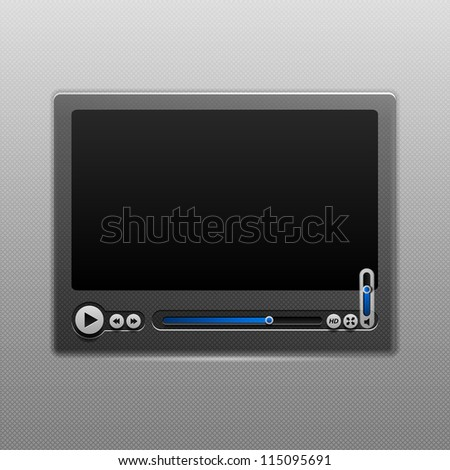Media Player User Interface.  eps 10 - stock vector