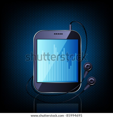 Media player. Vector - stock vector