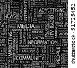 MEDIA. Seamless vector pattern. Vector illustration. - stock vector