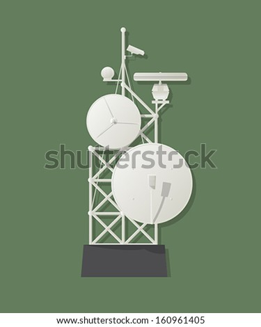 Media tower graphic - stock vector