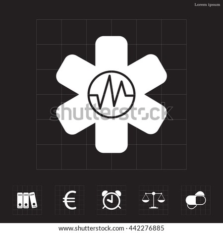 medical (ambulance) icon - stock vector