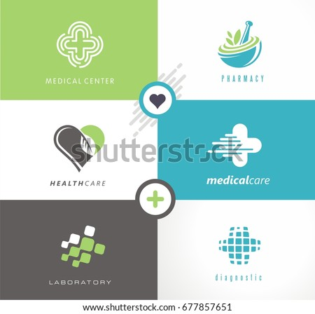 Medicine Logo Design Ideas Cardiology Neurology Stock Vector ...