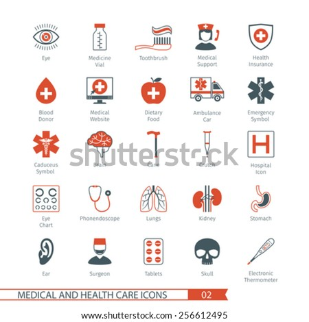 Medical and Health Care Icons Set 02 - stock vector