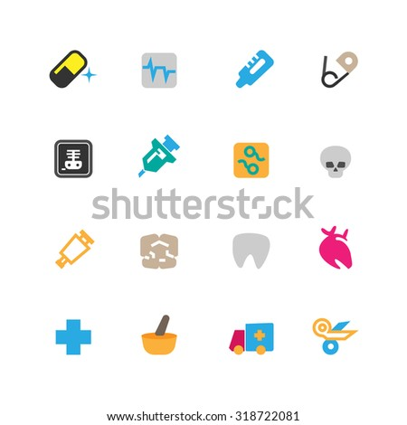 Medical and Hospital Icons set,vector.
