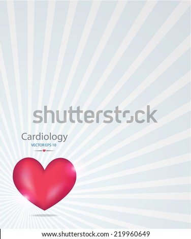 Medical background.Heart. EPS 10 vector file.  - stock vector