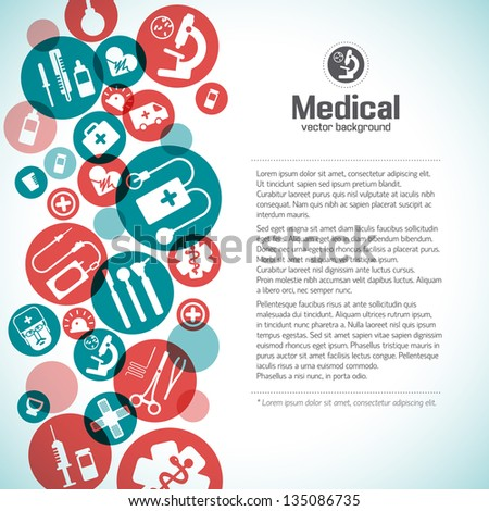 Medical background. Vector Illustration, eps 10, contains transparencies. - stock vector