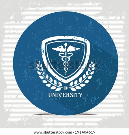 Medical badge symbol,vector - stock vector
