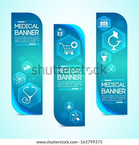 Medical banners set. Design concept. Design concept. Vector Illustration, eps 10, contains transparencies. - stock vector