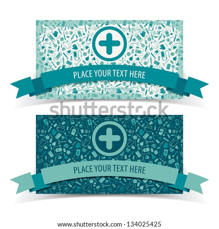 Medical banners set. Vector Illustration, eps 10, contains transparencies. - stock vector