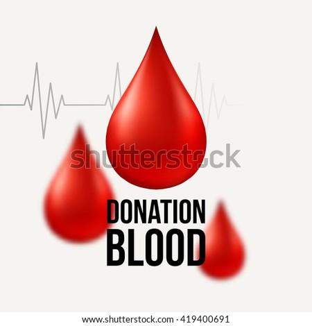 Medical Blood Donation Design  - stock vector