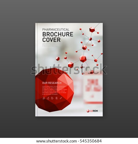 Medical Brochure Cover Template Flyer Design Stock Photo Photo