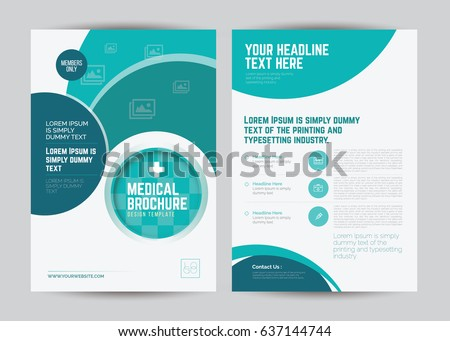Medical Brochure Design Template A Size Stock Vector