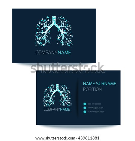 Medical Business Card Template Lungs Filled Stock Vector 439811881 ...